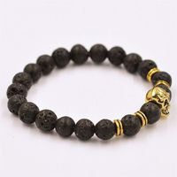Perle 8 Or Crâne Argent 109 Tibet Xch50929551 Bracelet Mm Élastique roWdeCxB