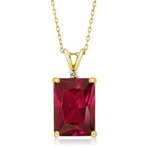Colliers et pendentifs de diamant 1/3 Ct Diamant Coussin Drop Pendentif En Rhodium Plaqué 10K or Blanc