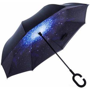 PARAPLUIE Parapluie Inverse Inversé Canne Automatique Grande