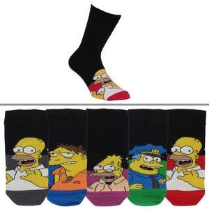 CHAUSSETTES Chaussettes homme Les Simpson lot de 5 Couleur - N