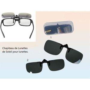 Clip Lunettes Soleil Lunette Mod2 - 3,7x5,6cm Chapiteau UV 400 Class3 - 271 b6c1a0e22d41