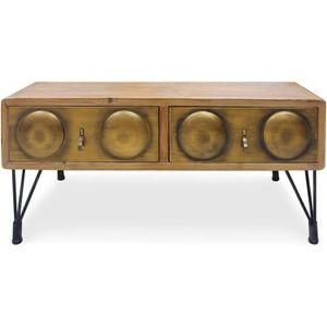 TABLE BASSE Table basse Boomer Bronze