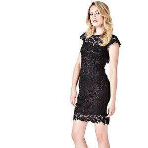 Guess femme robe noir - Achat   Vente pas cher d657463e1ac6