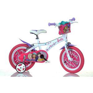 VÉLO ENFANT Velò Enfant Fille Barbie 16 Pouces Freins sur le G