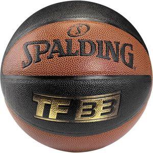 BALLON DE BASKET-BALL Ballon TF 33 In/Out Noir Marron