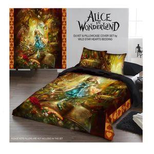 Alice In Wonderland Ensemble Couvre Drap Lit Double Ou Jumeau