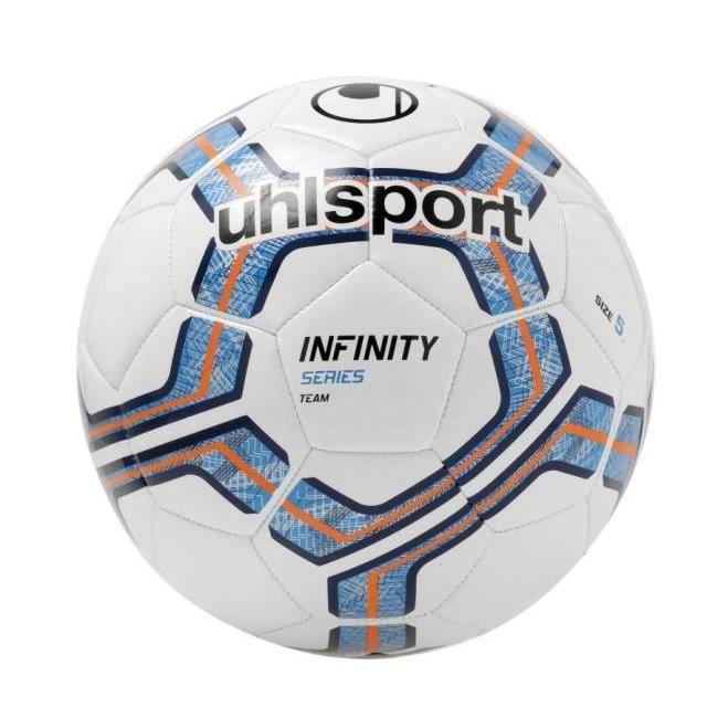 UHLSPORT Ballon de football Infinity Team - Blanc et bleu - Taille 5