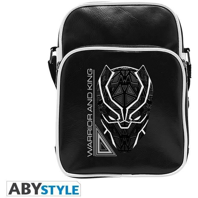 7a9c0b6f36 Sac Besace Marvel - Black Panther : Warrior and King - Achat / Vente ...