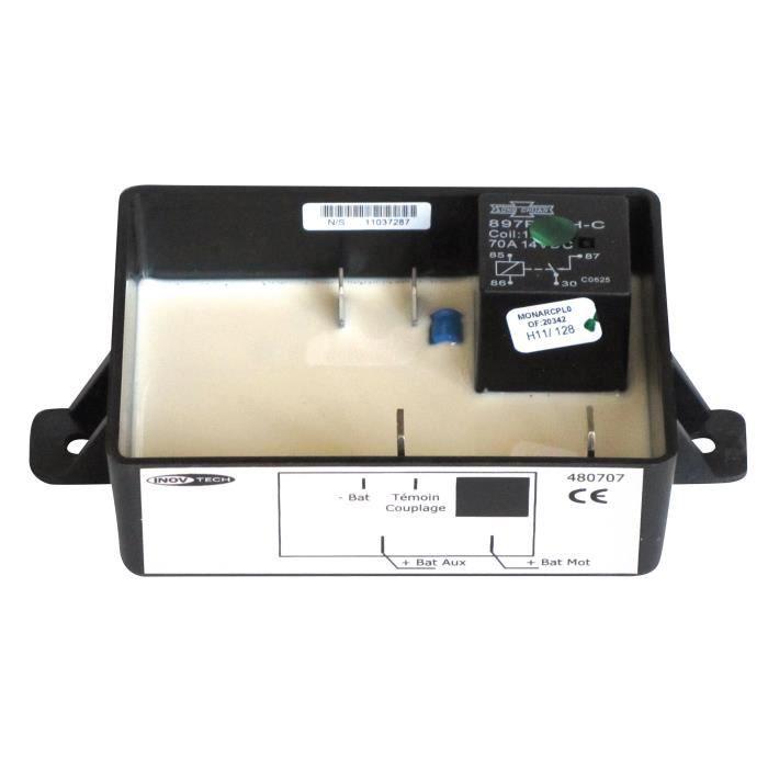INOVTECH Coupleur / Séparateur - Coupleur 2 batteries