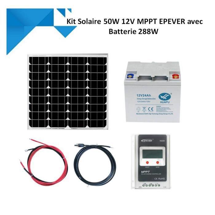 Kit Solaire 150W 12V Souple MPPT EPEVER Autonome avec Batterie 1200W