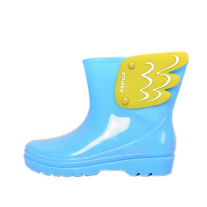 Mode bottes de pluie / enfant botte de pluie, Ailes bleu / 17 cm