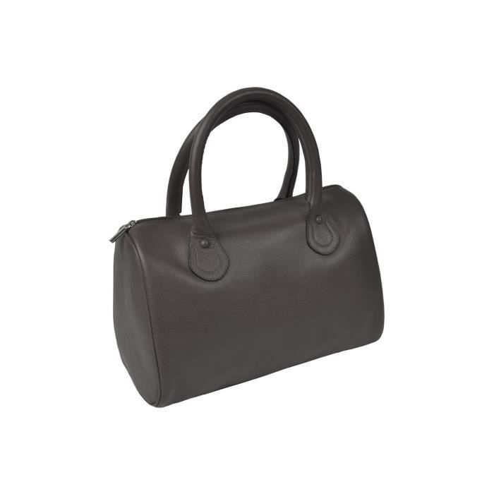 Sac Bowling pour femme - Taupe