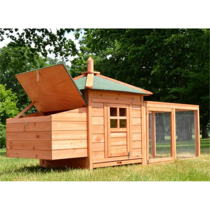 POULAILLER Zooprimus Poulailler en bois pour jardin extérieur