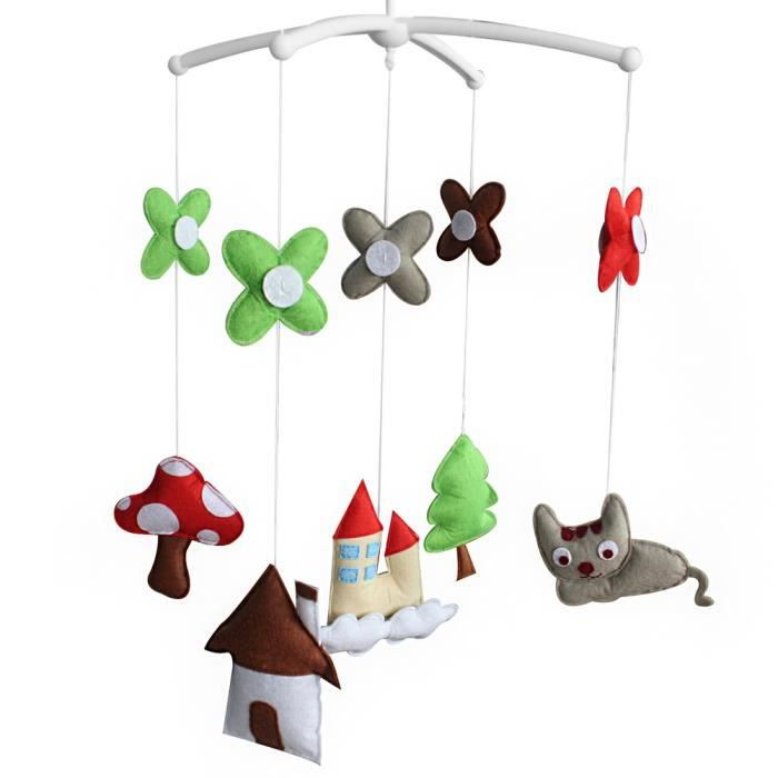 cr che jouet pour enfants douce vie berceau poussette rotatif mobile musical achat vente. Black Bedroom Furniture Sets. Home Design Ideas