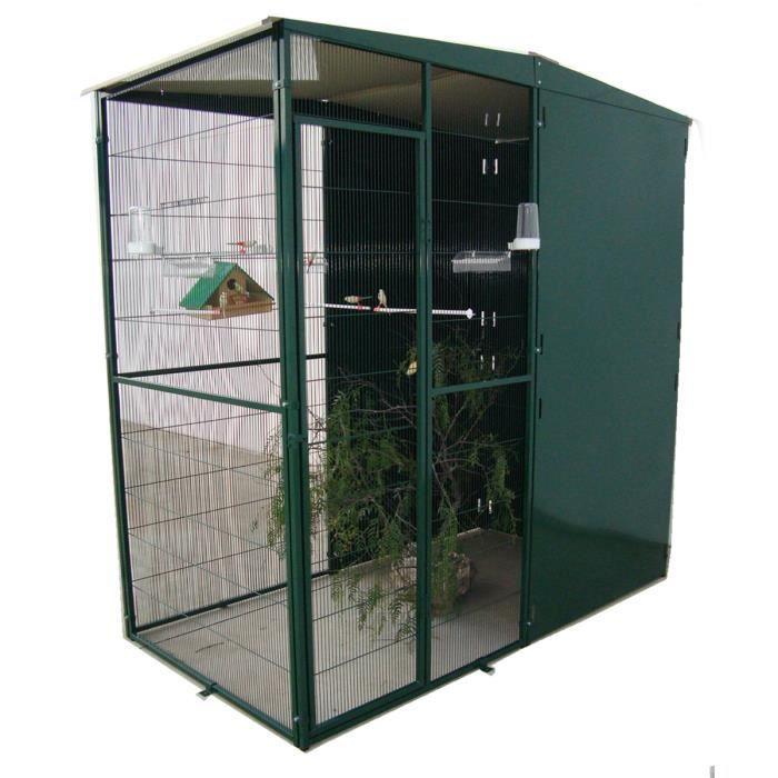 Volière de Jardin 2m² avec 3 Panneaux Coupe-Vent Vert - Achat ... 9d2fd40f8f38