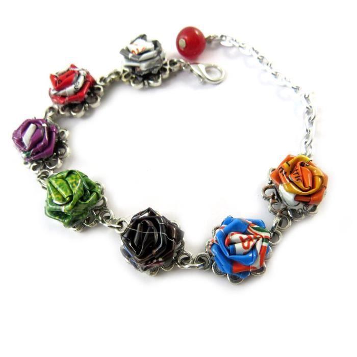 Bracelet artisanal New Life (fait main)- Les Trésors De Lily [N9570]