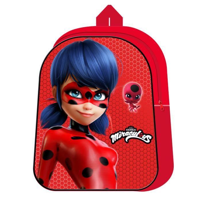 MIRACULOUS - Petit cartable école maternelle 3D 31cm ECO Ladybug Miraculous Rouge