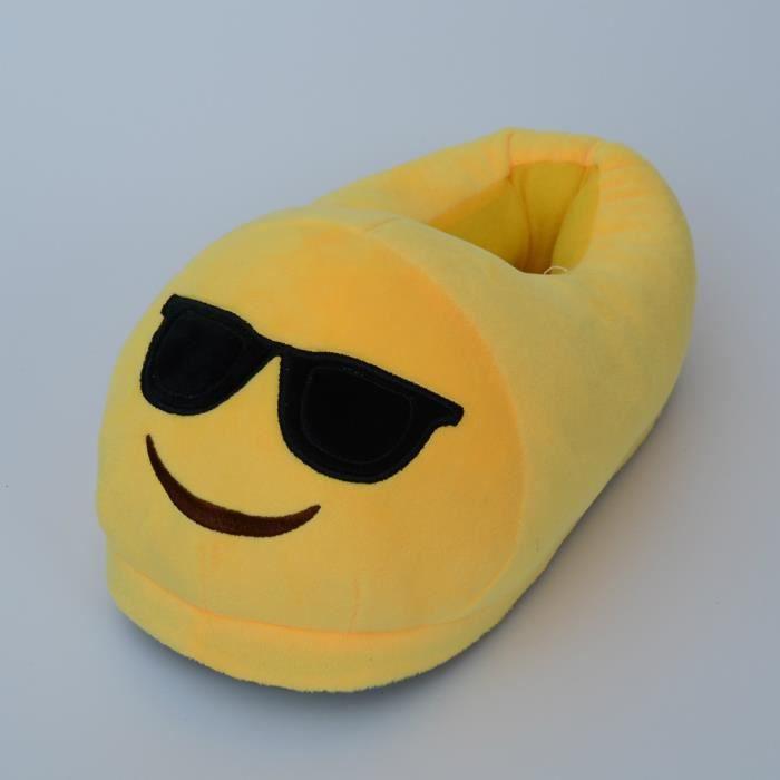 Unisexe Hiver Doux Chaud Emoji Chaussons (13# diable ) TbFBZpIUa