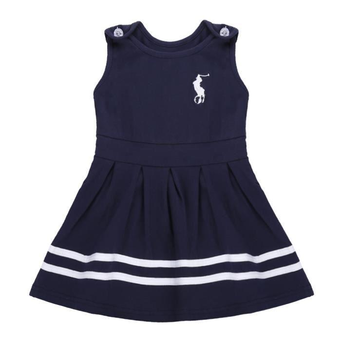 2b601d1bf9832 Coréenne joli bébé fille sans manche réservoir plissé robe O-cou ...