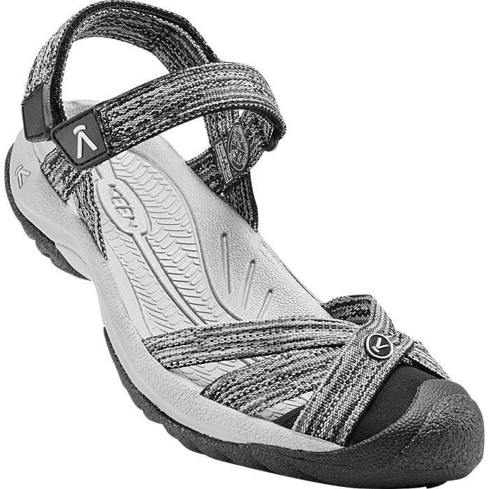 Keen Sandales Bali Strap Femme Neutral Gray-Black - Chaussures Sandale
