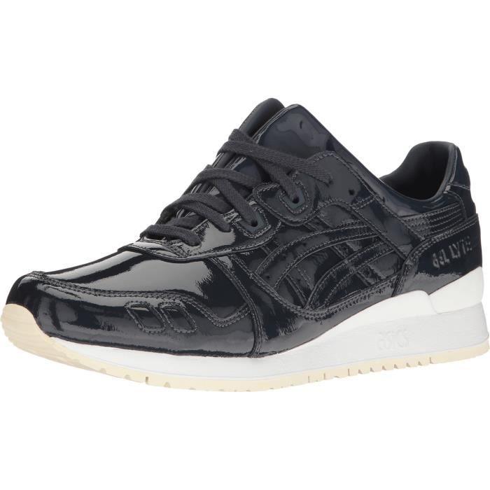 Asics Gel-Lyte Iii bout rond en cuir verni chaussures bleu course KMI4U 47 qRfvZmF