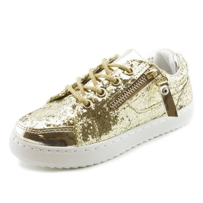 Link Womenss Lace-up Walking Shiny Sneakers (big Kid - Adults) QE34X Taille-40
