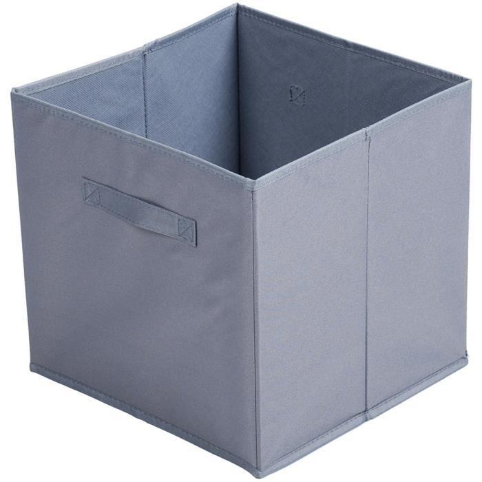 Boite De Rangement Pliable.Boite De Rangement Pliable Avec Poignee Deco City Anthracite 31 X 31 X 31cm Gris