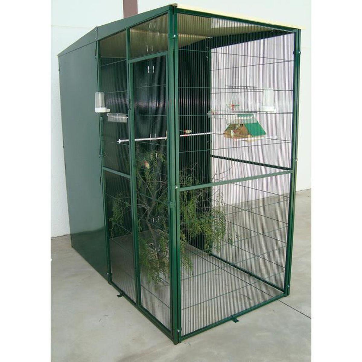 Volière de Jardin 2m² avec 3 Panneaux Coupe-Vent Vert - Achat   Vente  volière - cage oiseau Volière de Jardin 2m² avec 3 P - Cdiscount f2113edf4e69