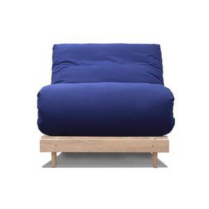 Canape convertible scandinave bleu achat vente canape for Housse divan lit