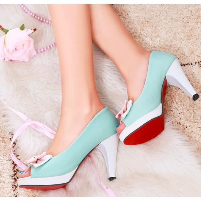 Sweet Women's High Heel Stilettos Pumps Casual Ladies Bowknot Shoes Plus Size hjBbniueAx