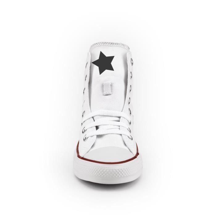 Converse All Star Personnalisé, Imprimés et Clouté - chaussures à la main - produit Italien - Giraffe