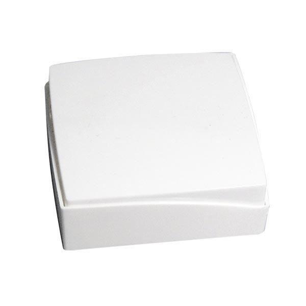 Pendentif et Chaîne Argent Fin 925/1000 Rhodié avec Céramique blanche, Oxydes de Zirconium- Femme