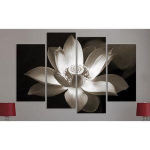 OBJET DÉCORATION MURALE 4panel wall art décoration de la maison fleur impr