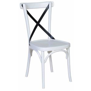 CHAISE Chaise Bistrot Croisillon Blanche