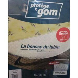 PROTÈGE TABLE Protège table ROND 1m35 - sous nappe gom élastiqué