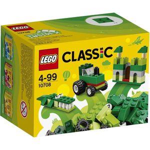 ASSEMBLAGE CONSTRUCTION LEGO® Classic 10708 Boîte de Construction verte
