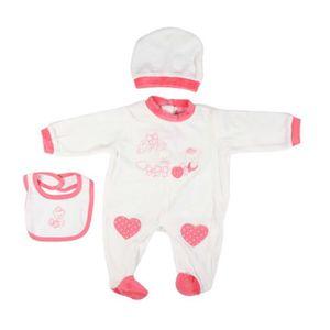 Ensemble de vêtements Parure naissance - bébé fille - rose saumon