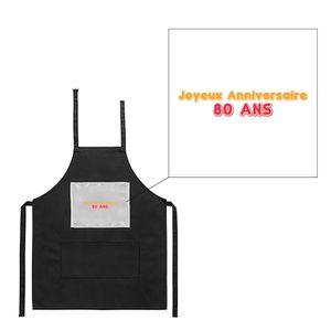 TABLIER DE CUISINE Tablier noir de cuisine barbecue joyeux anniversai