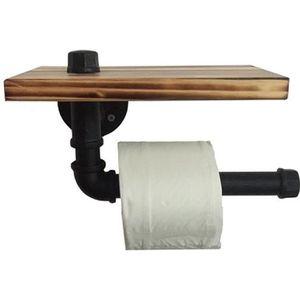 SERVITEUR WC Porte-rouleau en Papier Toilette Design Rétro Méta