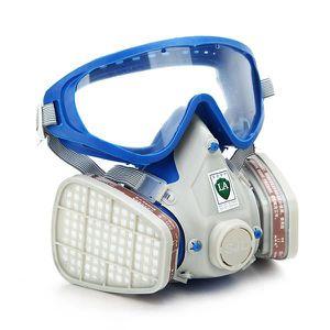 LUNETTE - VISIÈRE CHANTIER Masque Complète à Gaz Respirateur & Lunettes Filtr