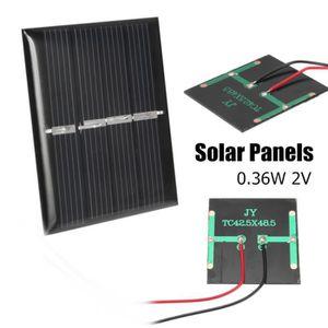 KIT PHOTOVOLTAIQUE TEMPSA 0.36W 2V Panneaux Solaire Mini Module Systè