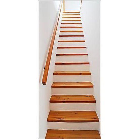 Papier peint pour porte trompe l oeil Escalier réf 614 Dimensions ...