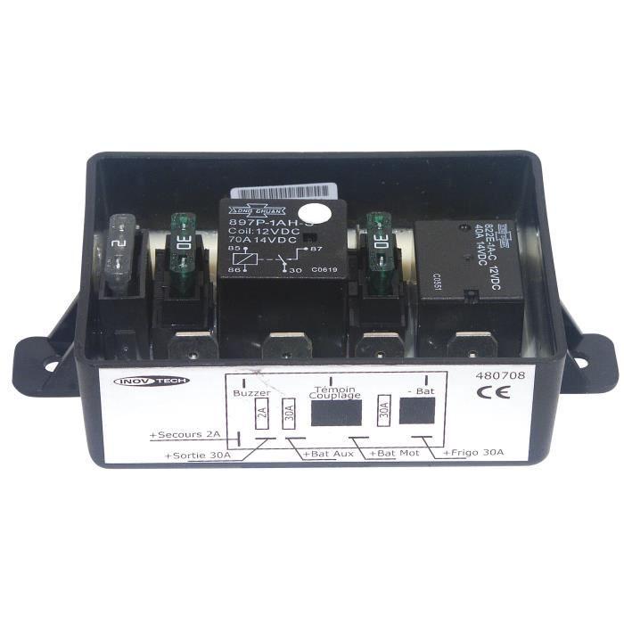 INOVTECH Coupleur / Séparateur - Coupleur 2 batteries 3 sorties