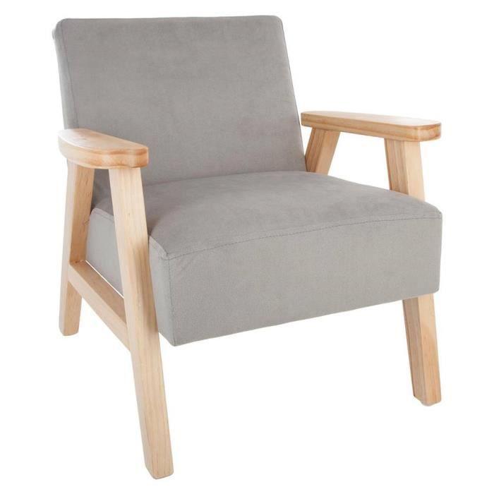 Fauteuil en bois avec accoudoir pour enfant gris achat for Chaise en bois avec accoudoir