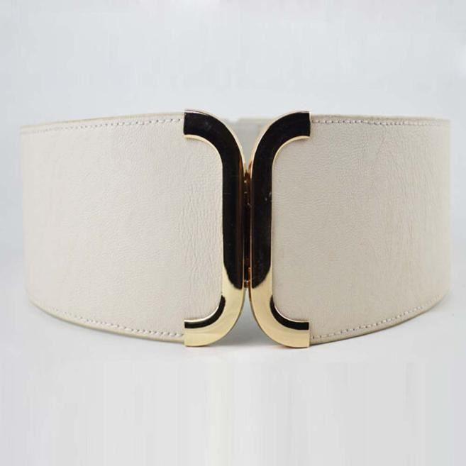 brève femme large ceinture décoration smoking élastique piège accessoires  robe beige CQQ60630346BG 93fcd74ae26