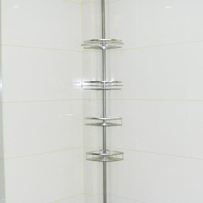 SUS304 de rangement cuisine Organiser Shelf Rack Douche Caddy Coin or brossé