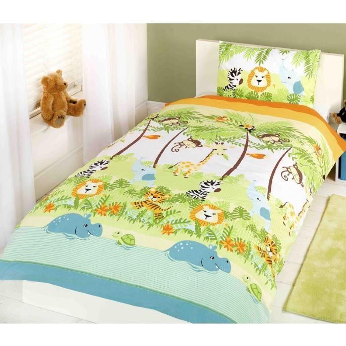 couvre lit jungle Parure de lit housse de couette Jungle Lion   Achat / Vente housse  couvre lit jungle