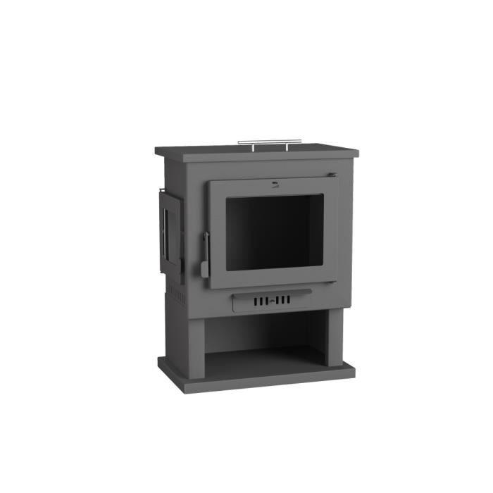 fm po le bois en acier ch 2 9 5kw avec mini four top. Black Bedroom Furniture Sets. Home Design Ideas