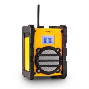 Denver Electronics Wr-40 Radio De Chantier Pll Fm Aux Anti-éclaboussures