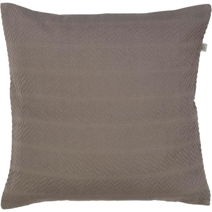 Coussin 50X50 Taupe - Achat / Vente Coussin 50X50 Taupe Pas Cher